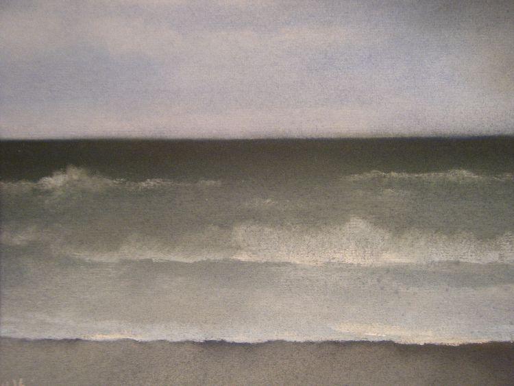 Blues.  Pastel.  54.5cm x 44.5cm (framed).  SOLD