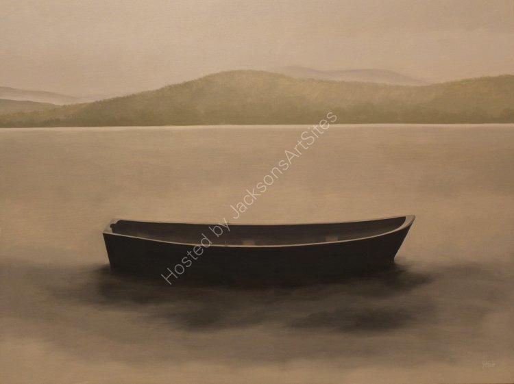 Boat, Loch Rannoch. Oil on canvas. 122cm x 91.5cm. SOLD