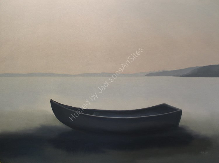 Boat at Boddin Point.  Oil on canvas.  80cm x 60cm.  SOLD