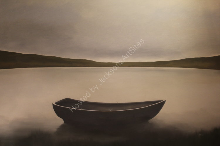 Boat.  Oil on canvas.  122cm x 91.5cm.  SOLD