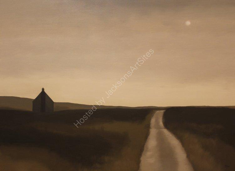 Bothy, Glen Quaich. Oil on canvas. 122cm x 91.5cm. SOLD
