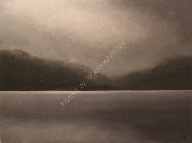 Cloud-break, Loch Tay. Oil on canvas. 80cm x 60cm. SOLD