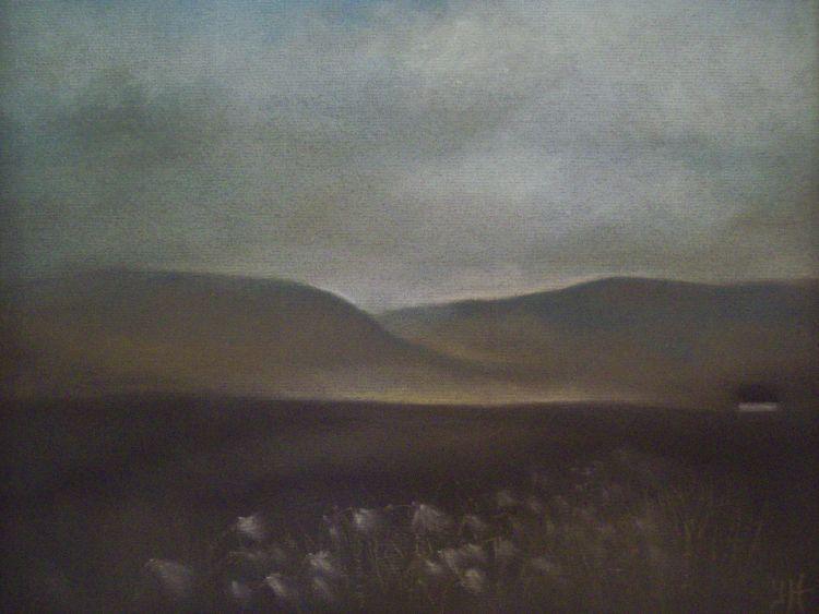 Cotton-grass, Glen Quaich.  Pastel.  40cm x 30.5cm.