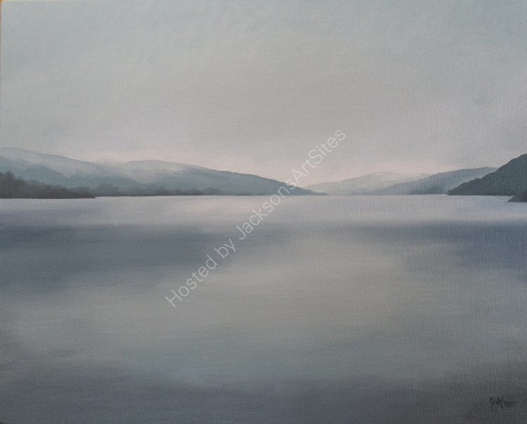Dusk, Loch Tay. Oil on canvas. 50cm x 40cm. SOLD