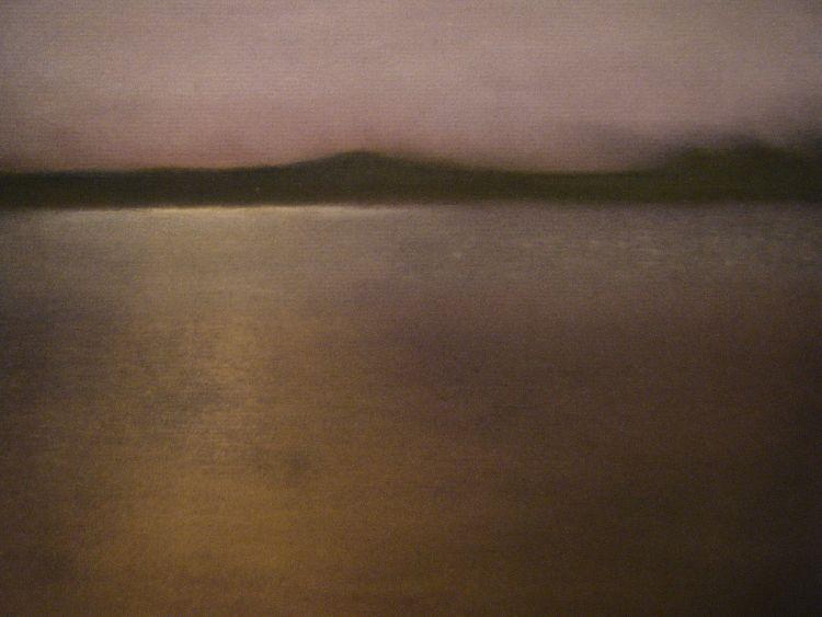 Evening light, Shell Bay.  Pastel.  54.5cm x 44.5cm (framed).  SOLD.