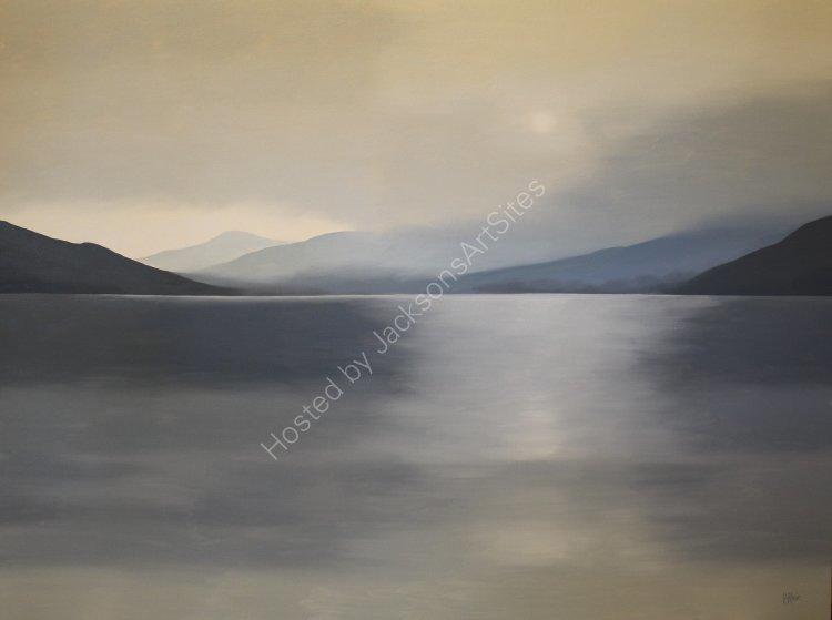 Evening sun, Loch Tay. Oil on canvas. 122cm x 91.5cm. SOLD