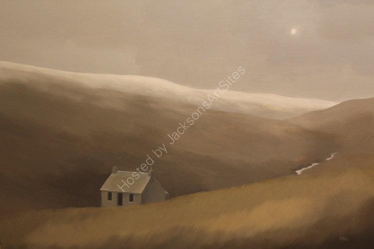 Last snow, Glen Quaich. Oil on canvas, 122cm x 91.5cm. SOLD
