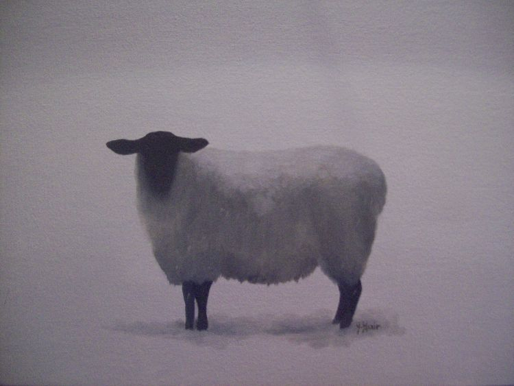 First snowfall. Oil on canvas. SOLD.