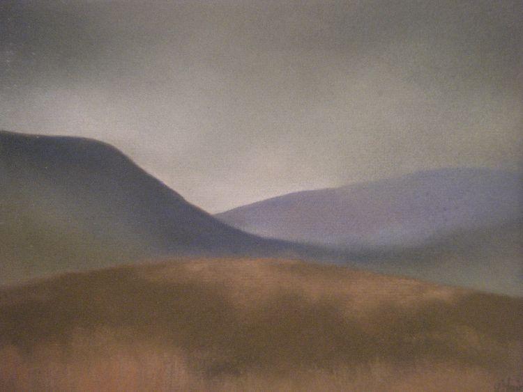 Glen Quaich.  Pastel.  54.5cm x 44.5cm (framed).  SOLD.
