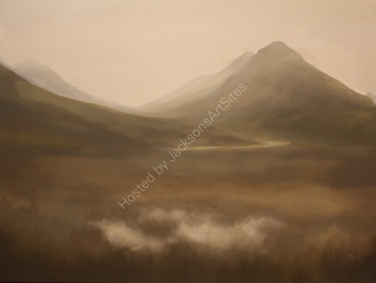 Glencoe. Oil on canvas. 122cm x 91.5cm. Available.  Contact me for details.