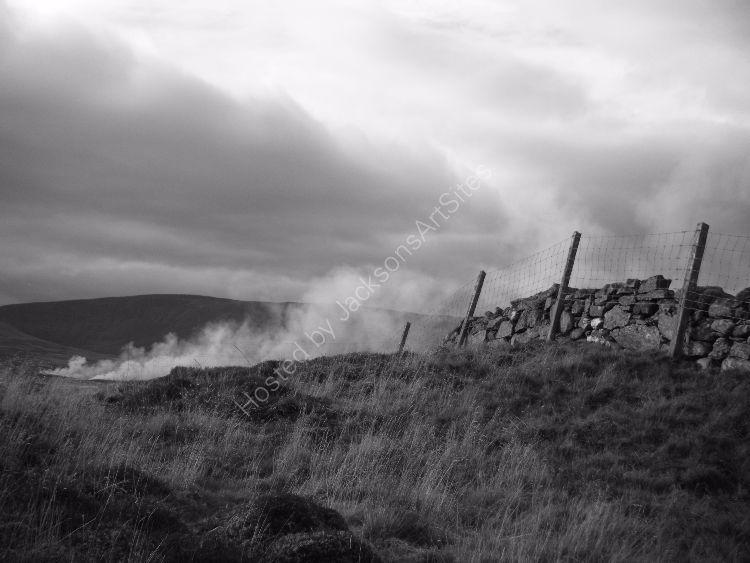 Heather burning near Amulree.