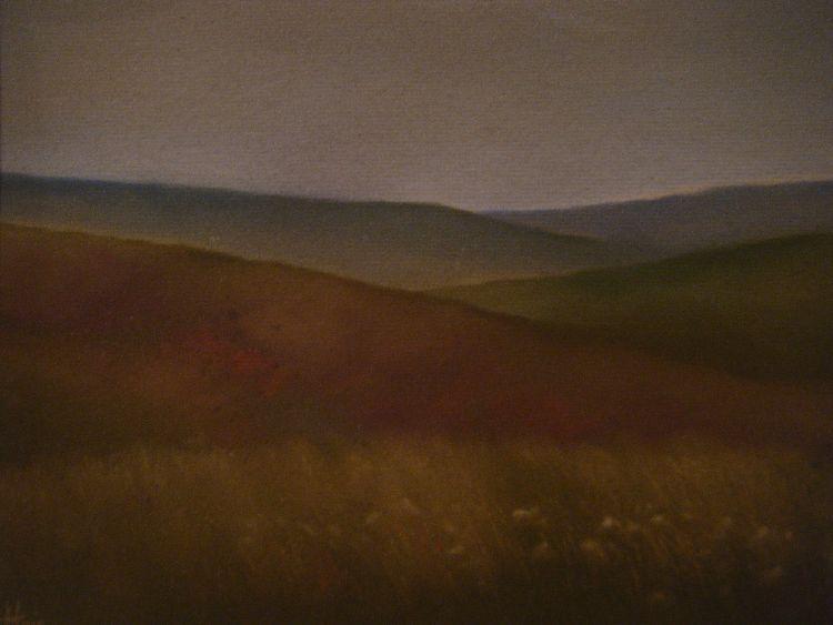 Hills near Amulree.  Pastel.  40cm x 30.5cm (unframed).