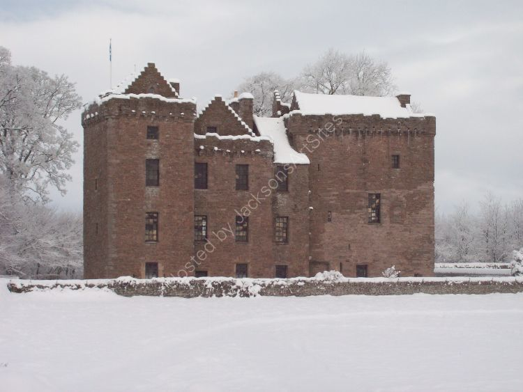Huntingtower Castle, Winter.