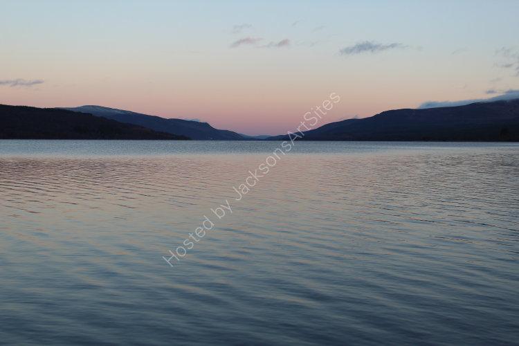 Winter sunset, Loch Rannoch.