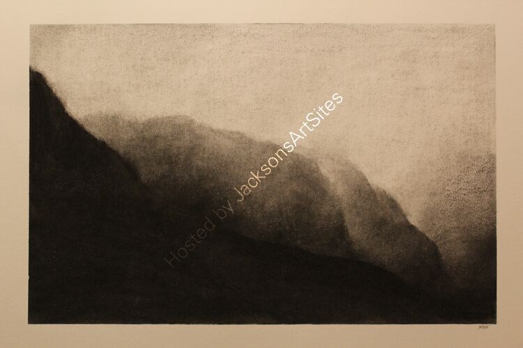 The Three Sisters.  Willow charcoal on A2 white cartridge paper.  Image size 50cm x 32cm.  Available via my Etsy shop, see Links section.