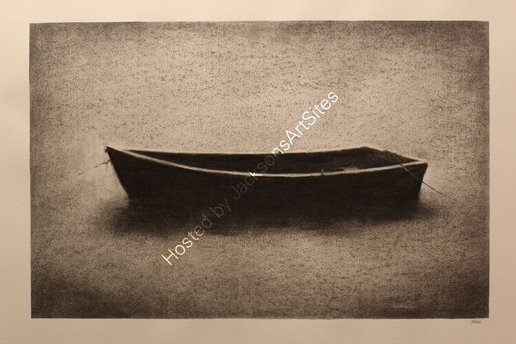 All in the same boat?  Willow charcoal on A2 white cartridge paper.  Image size 50cm x 32cm.  SOLD.