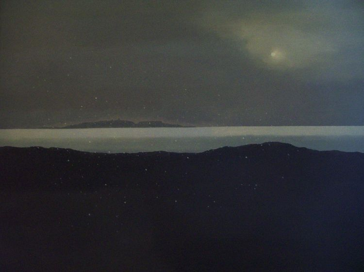 January afternoon, the East Neuk. Oil on canvas. 142cm x 107cm. COLLECTION, THE ARTIST