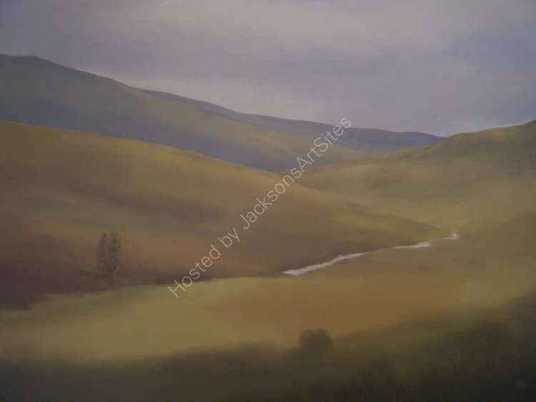 Late summer, Glen Quaich.  Oil on canvas.  122cm x 91.5cm.  SOLD
