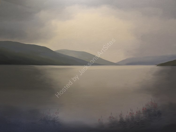 Late Summer, Loch Earn. Oil on canvas. 122cm x 91.5cm. SOLD