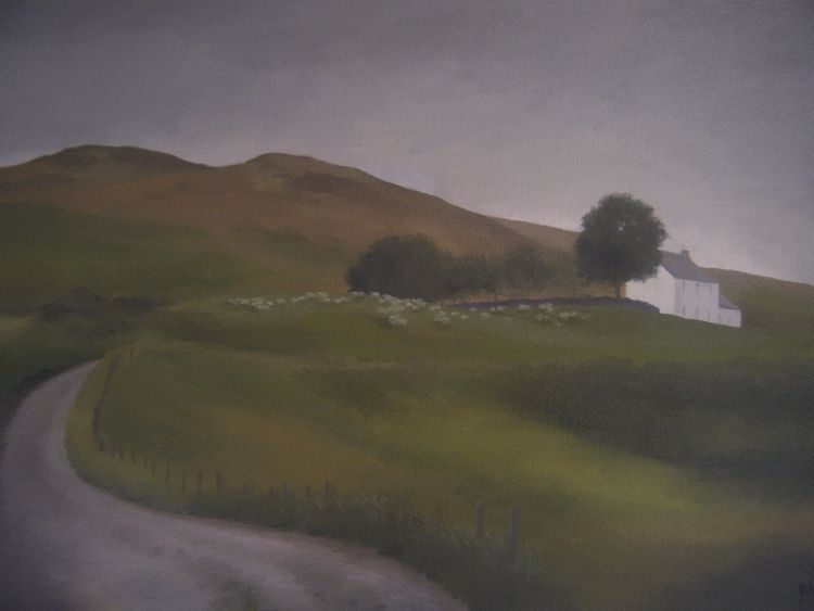 Little Glenshee Farmhouse. Oil on canvas. 61cm x 40.5cm. SOLD