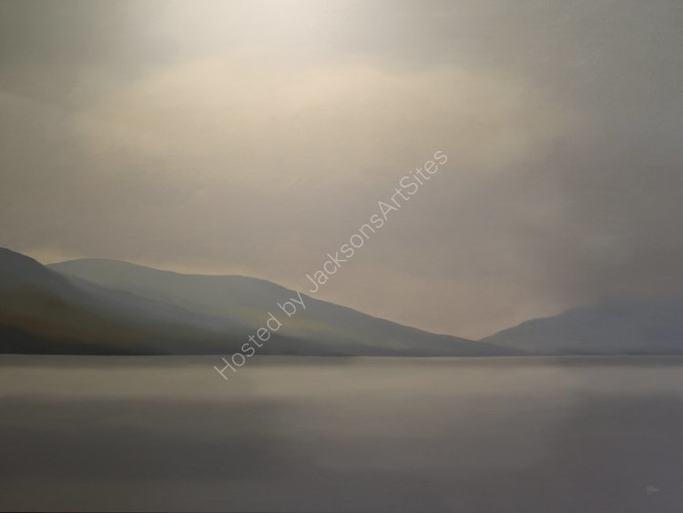 Loch Eireann.  Oil on canvas.  122cm x 91.5cm.