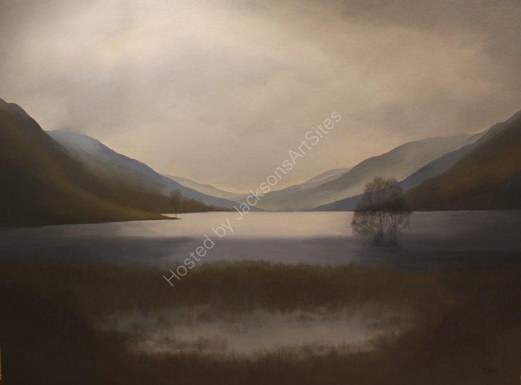 Loch Voil.  Oil on canvas.  122cm x 91.5cm.  SOLD