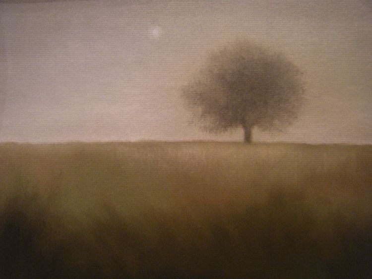 Misty morning, The May Tree.  Pastel.  54.5cm x 44.5cm (framed).  SOLD