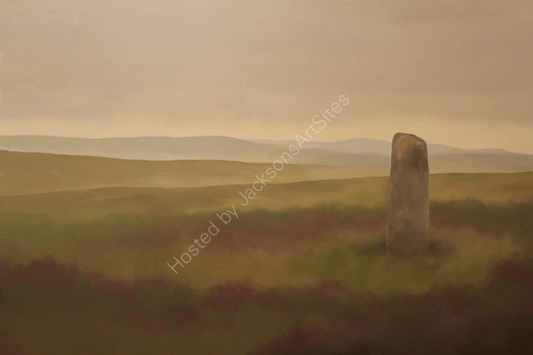 Moor of Ardoch. Oil on canvas. 122cm x 91.5cm. Available. Contact me for details.