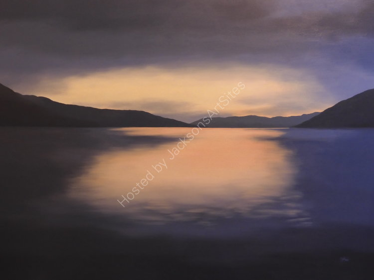 Nightfall. Oil on canvas. 122cm x 91.5cm.  Available.  Contact me for details.