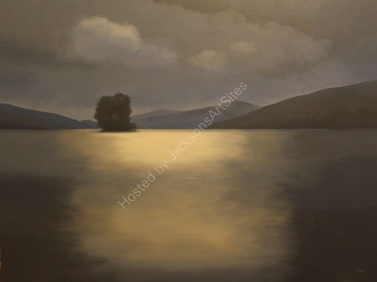 Nocturne in blue, Loch Tay. Oil on canvas. 122cm x 91.5cm. SOLD