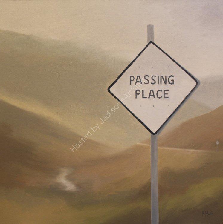 Passing place, Glen Lyon. Oil on canvas. 50cm x 50cm. SOLD