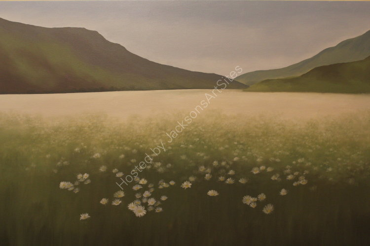 Sea of Daisies, The Sma' Glen. Oil on canvas. 122cm x 91.5cm. SOLD.