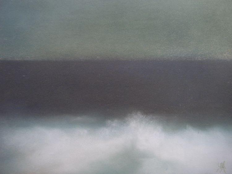 Sea study.  Pastel.  54.5cm x 44.5cm (framed).  SOLD