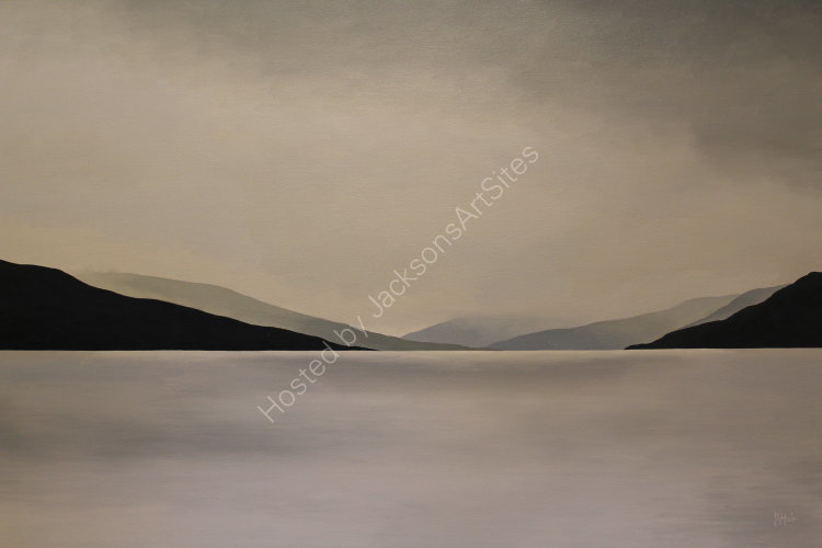 Silver light, Loch Earn. Oil on canvas. 122cm x 91.5cm. SOLD