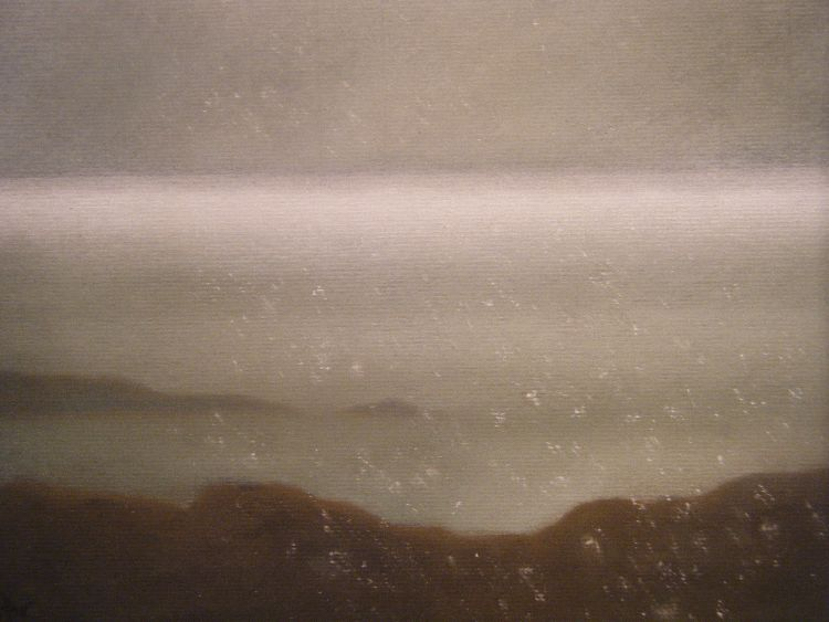 Silver sea.  Pastel.  40 x 30.5cm (unframed).  SOLD