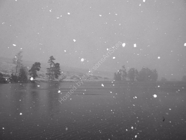 Snow, Loch Meallbrodden.
