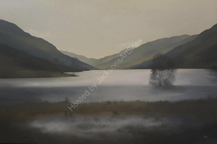 Snow-melt, Loch Voil. Oil on canvas. 122cm x 91.5cm. SOLD