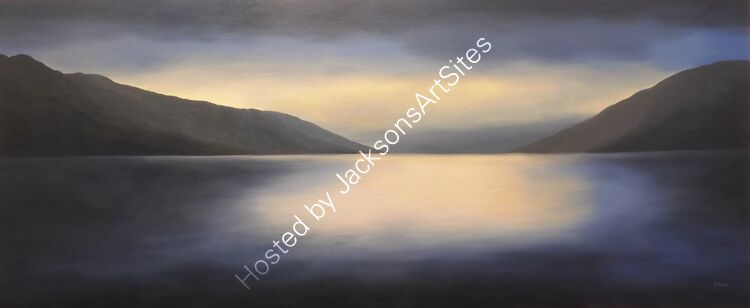 Solas. Oil on canvas. 51cm x 122cm. Available from Sproson Gallery, St Andrews.
