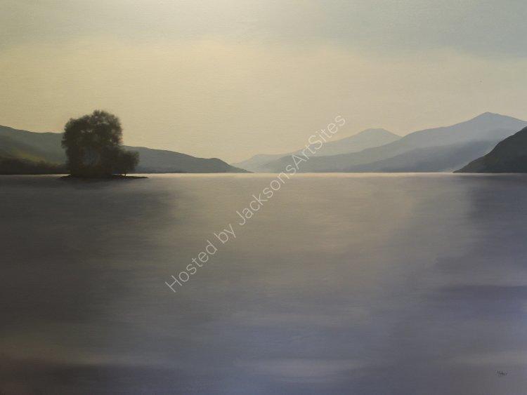 Still, Loch Tatha. Oil on canvas. 122cm x 91.5cm. SOLD