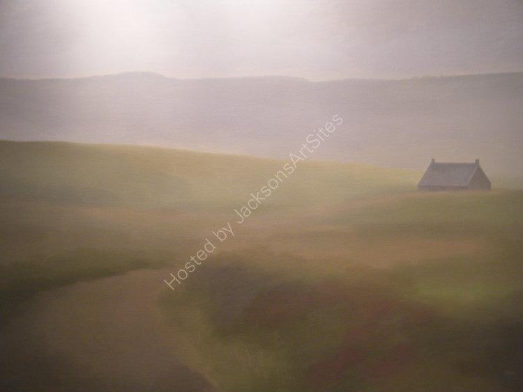 Summer rain, Loch Meallbrodden.  Oil on canvas.  122cm x 91.5cm.  SOLD