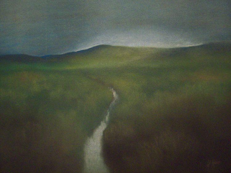 Towards Glenalmond.  Pastel.  40cm x 30.5cm (unframed).