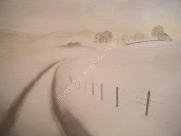 Tracks, Little Glenshee.  Oil on canvas.  122cm x 91.5cm.  SOLD