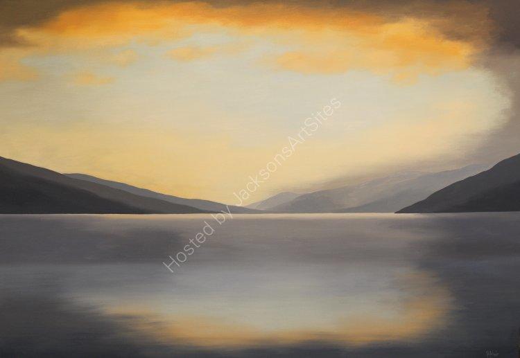 Firesky, Loch Tay. Oil on canvas. 122cm x 91.5cm. SOLD