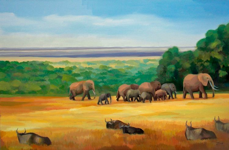 On the Move.Amboseli