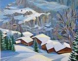 switzerland 30 x 24 oil on canvas